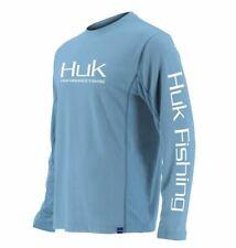 Huk Icon X Long Sleeve Shirt Carolina Blue