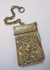Antique Art Nouveau Aide Memoire Notebook Chatelaine
