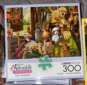 Buffalo Games - Puppy Workshed - 300 Large Piece Jigsaw Puzzle