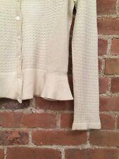 Carolina Herrera Women's Sweater Sz Large, Ivory 100% Cashmere