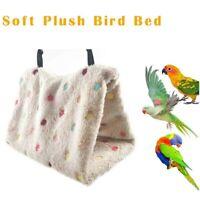 Pet Bird Parrot Parakeet Budgie Warm Hammock Cage Hut Tent Bed Hanging Cave SML