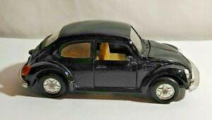 WELLY DIECAST VOLKSWAGEN VW 1303 BEETLE - BLACK - 9049 - UNBOXED - LENGTH 12CM