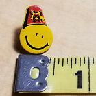 Pinback Masonic Shriner Smiley Face Fez for Tie Tack, Lapel & Hat, Vintage,1970