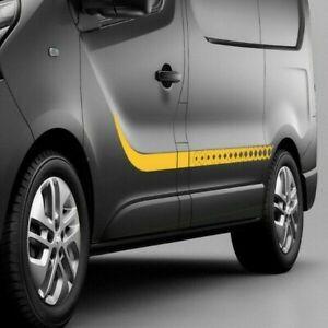 Side stripe decals for Renault Trafic, Vauxhall Vivaro Graphics kit stripes