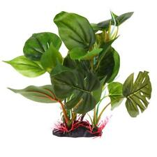 Large Leaf Artificial Aquatic Plant Aquarium Fish Tank Decoration Ornament Decor