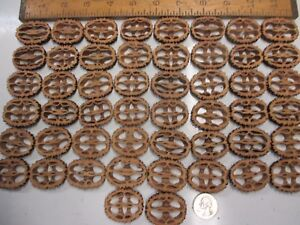 """Large Black Walnut Shells Slices 1-1/2"""" 1/4"""" Thick 50 Piece Free Shipping"""