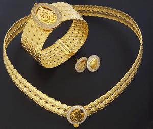 Trabzon Set Osmanli Taki Bilezik Kolye 22 Karat Gold Vergoldet Altin Kaplama Set