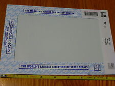 Microscale Decal #TF-1 Trim Film - White 4 1/2in x 7 1/2in  (Use with Any Scale)