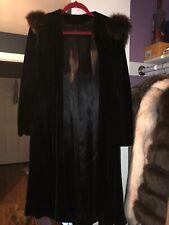 Vintage Velvet Coat With Fur Trim Hood