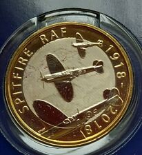 Royal Air Force RAF £2 Spitfire Bunc + Collecting Pack .