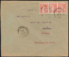 3027 ARGENTINA TO CHILE COVER 1922 CONGRESO PANAMERICANO BAHIA BLANCA - SANTIAGO