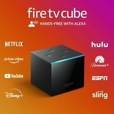 Amazon Fire TV Cube 16GB 2nd Gen Streaming Media Player With Voice Remote -Black
