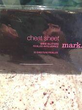Avon mark. Cheat Sheet Shine Blotters Lot of (2) 100 sheets Total New Sealed