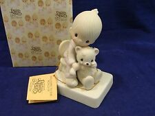 Precious Moments Figurine BEAR YE ONE ANOTHERS BURDENS E-5200 (Hourglass) MIB