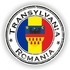 Rumanía Transylvania Sello Pegatina Coche Camión Portátil Tablet Nevera #02