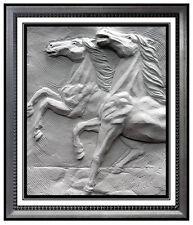 BILL MACK Original SAND SCULPTURE Signed HORSE RACING Equestrian Art bronze