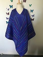 Pleats please Issey Miyake Royal Blue Poncho  Shawl Cape dress One Size Fits All