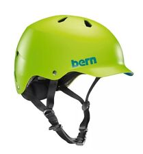 Bern Watts EPS Summer Cycling Helmet Matte Neon Green Small/Medium Thin Shell