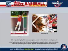 2019 Topps Opening Day бейсбол коробка MLB + бесплатная MLB плеер, подписанное фото/коробка