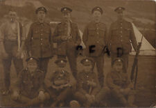 WW1 Soldier Group DCLI Duke of Corwall's Light Infantry in tented camp