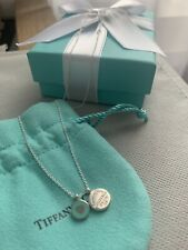 Tiffany & Co. Double round Pendant Necklace Tiffany Blue (16-18 Inches) AG 925