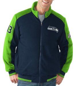 "Seattle Seahawks NFL ""Classic"" Men's Super Bowl Commemorative Varsity Jacket"