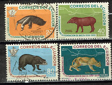 Ecuador Fauna Tropical Animals stamps 1958