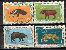 Ecuador Fauna Tropical Animals stamps 1958