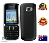 As New Nokia C2-01 Black 3G 3.2MP Unlocked Gold From Sydney