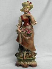 Porzellan Figur Frau mit Blumen,Wagner & Apel,Thüringen,Neu,Topzustand