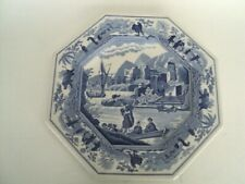 """Spode Blue Room Sutherland Collection """"Caramanian"""" Octagon Shaped 9.5"""" Plate"""