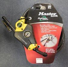 "MASTER LOCK 8413DPF 6' x 3/8"" Python Adjustable Locking Cable, NEW"