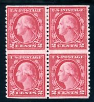 USAstamps Unused VF US Washington Imperf Horizontal Block Scott 540a OG MNH, MHR