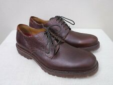 Men's H.S. TRASK 10 M Brown Pebbled Leather Lace Up Dress Casual Oxfords Shoes