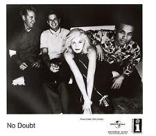 """Gwen Stefani & No Doubt Publicity Real Photo 8"""" x 10"""" Black & White"""