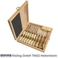Tacca intaglio scalpelli Set Ciliegie # 3441- 11 Pz. in scatola di legno