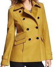New EXPRESS Women's Golden Yellow Wool Peacoat Coat Jacket, nwt, M, $160 **LAST*