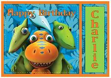 Dino Dinosaur Train D3 birthday personalised A4 cake topper icing sheet