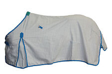 AXIOM POLYCOTTON BLUE RIPSTOP UNLINED HORSE RUG 6'0