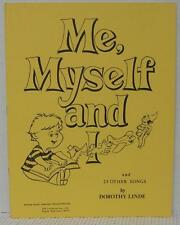ME MYSELF and I Childrens All Occasion Sheet Music Book Autoharp Guitar Teaching