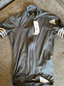 NEW Mens Adidas Adistar Maillot Cycling Form Fitting Jersey Black CV7089 Size M