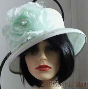 New Walter Wright WW Green Wedding, Christening, Ascot, Special Occasions Hat