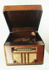 New ListingVtg antique 1930s Truetone D2642 tube radio phonograph record player wood case