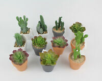 Kaktus im Dekotopf  Kunstpflanzen künstlicher Kaktus Kakteen ca. 9-14 cm