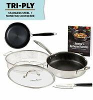 "Copper Chef Titan Pan, Stainless Steel Non-Stick 9.5"", 5 Pcs Set"