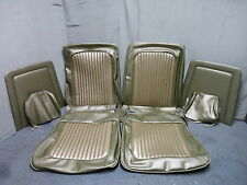 69 Mustang Front Bucket Seat Upholstery Reproduction Light Nugget Gold Head Rest
