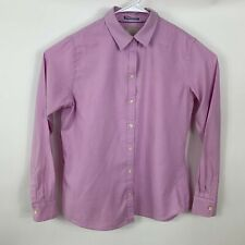 Banana  Republic Womens Large Oxford Shirt Long Sleeve Purple Cotton