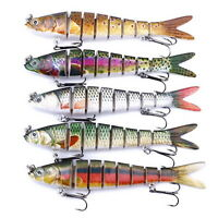 1PC Sinking Fishing Lures Multi Articulated Swimbait Pike Hard Tackle Bass Lures