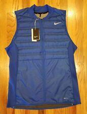 Nike Men's Aeroloft Golf Vest Game Royal Black 801891-480 Size Large THESPOT917