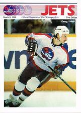1989 Winnipeg Jets Home vs Calgary Flames NHL Hockey Program #81